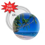 Beach Palm Trees Stretching Out For Love 2.25  Button (100 pack)