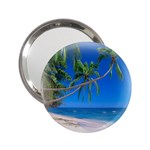 Beach Palm Trees Stretching Out For Love 2.25  Handbag Mirror