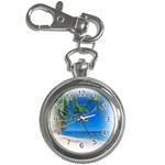 Beach Palm Trees Stretching Out For Love Key Chain Watch