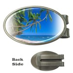 Beach Palm Trees Stretching Out For Love Money Clip (Oval)