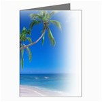 Beach Palm Trees Stretching Out For Love Greeting Card