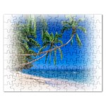 Beach Palm Trees Stretching Out For Love Jigsaw Puzzle (Rectangular)