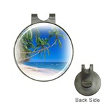 Beach Palm Trees Stretching Out For Love Golf Ball Marker Hat Clip