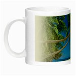Beach Palm Trees Stretching Out For Love Night Luminous Mug