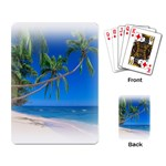 Beach Palm Trees Stretching Out For Love Playing Cards Single Design