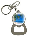 Beach Palm Trees Stretching Out For Love Bottle Opener Key Chain
