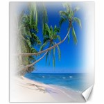 Beach Palm Trees Stretching Out For Love Canvas 8  x 10
