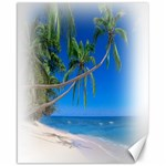 Beach Palm Trees Stretching Out For Love Canvas 16  x 20