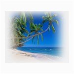 Beach Palm Trees Stretching Out For Love Glasses Cloth (Small, Two Sides)