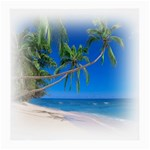Beach Palm Trees Stretching Out For Love Glasses Cloth (Medium, Two Sides)
