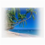 Beach Palm Trees Stretching Out For Love Glasses Cloth (Large, Two Sides)