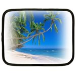 Beach Palm Trees Stretching Out For Love Netbook Case (Large)