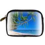 Beach Palm Trees Stretching Out For Love Digital Camera Leather Case