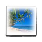 Beach Palm Trees Stretching Out For Love Memory Card Reader with Storage (Square)
