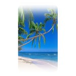 Beach Palm Trees Stretching Out For Love Memory Card Reader (Rectangular)