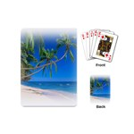 Beach Palm Trees Stretching Out For Love Playing Cards (Mini)