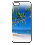 Beach Palm Trees Stretching Out For Love Apple iPhone 5 Seamless Case (Black)