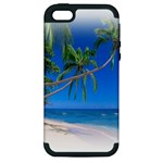 Beach Palm Trees Stretching Out For Love Apple iPhone 5 Hardshell Case (PC+Silicone)