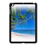 Beach Palm Trees Stretching Out For Love Apple iPad Mini Case (Black)