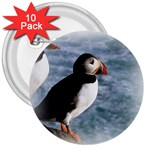 Atlantic Puffin Birds 3  Button (10 pack)