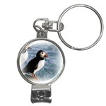 Atlantic Puffin Birds Nail Clippers Key Chain