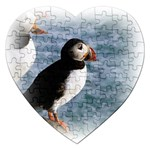 Atlantic Puffin Birds Jigsaw Puzzle (Heart)