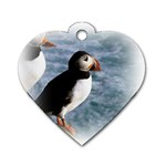 Atlantic Puffin Birds Dog Tag Heart (One Side)