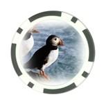 Atlantic Puffin Birds Poker Chip Card Guard