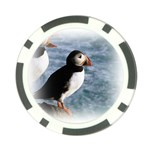 Atlantic Puffin Birds Poker Chip Card Guard (10 pack)