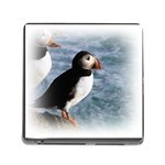 Atlantic Puffin Birds Memory Card Reader with Storage (Square)