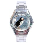 Atlantic Puffin Birds Stainless Steel Analogue Men's Watch