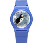 Atlantic Puffin Birds Round Plastic Sport Watch Small