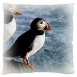 Atlantic Puffin Birds Large Cushion Case (Two Sides)