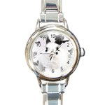 Animals Rabbits Brothers Round Italian Charm Watch