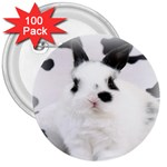 Animals Rabbits Brothers 3  Button (100 pack)
