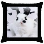 Animals Rabbits Brothers Throw Pillow Case (Black)