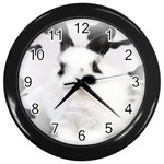Animals Rabbits Brothers Wall Clock (Black)