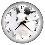 Animals Rabbits Brothers Wall Clock (Silver)