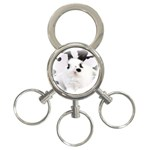 Animals Rabbits Brothers 3-Ring Key Chain