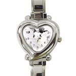 Animals Rabbits Brothers Heart Italian Charm Watch