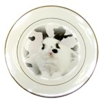 Animals Rabbits Brothers Porcelain Plate