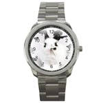 Animals Rabbits Brothers Sport Metal Watch