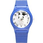 Animals Rabbits Brothers Round Plastic Sport Watch Small