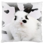 Animals Rabbits Brothers Large Cushion Case (Two Sides)