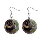 Bighorn Sheep 1  Button Earrings