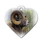 Bighorn Sheep Dog Tag Heart (One Side)