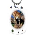 3 Dimention Kingdom Animal King Tree Climber Leopard  Dog Tag (One Side)
