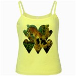 3 Dimention Kingdom Animal King Tree Climber Leopard  Yellow Spaghetti Tank