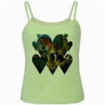 3 Dimention Kingdom Animal King Tree Climber Leopard  Green Spaghetti Tank