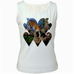 3 Dimention Kingdom Animal King Tree Climber Leopard  Women s Tank Top